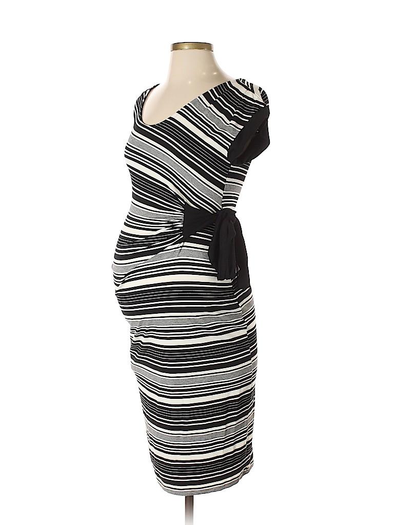 9f94840071312 Liz Lange Maternity Stripes Black Casual Dress Size S (Maternity ...