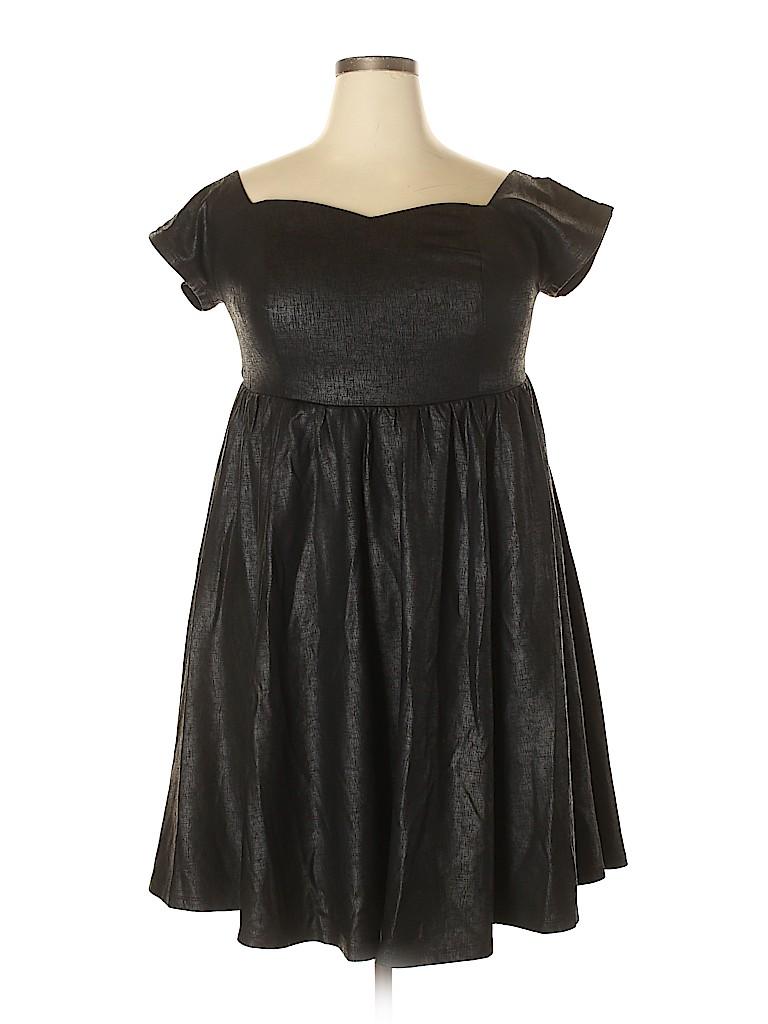 b17361a883b Torrid Solid Black Casual Dress Size 1X (Plus) - 73% off
