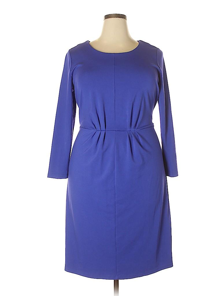 49ce23b430d ELOQUII Solid Dark Purple Casual Dress Size 20 (Plus) - 67% off ...