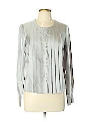 Christin Michaels Long Sleeve Silk Top