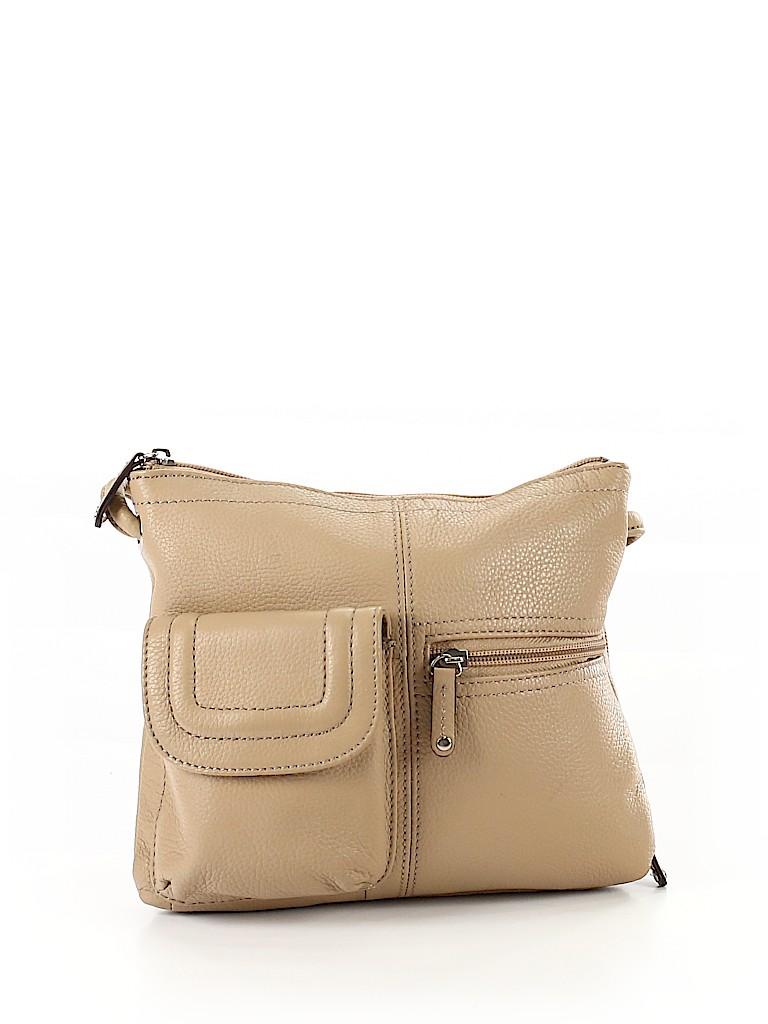 c7d53a89f08 Tignanello 100% Leather Solid Tan Crossbody Bag One Size - 39% off ...
