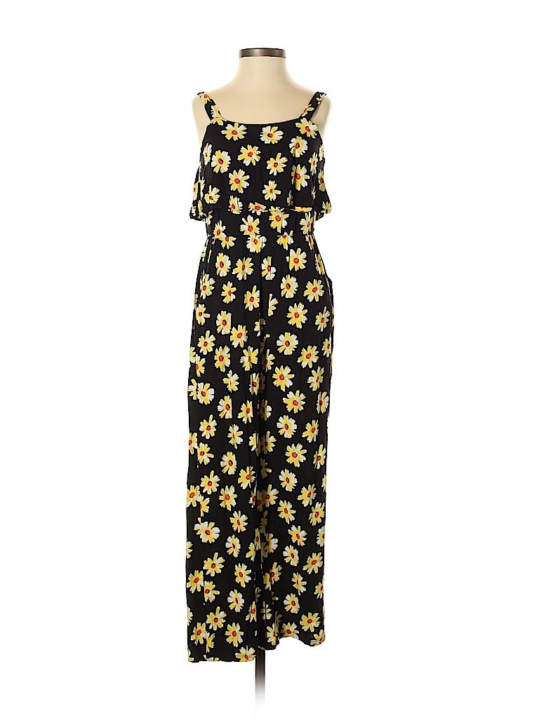 bd248e478845 Justice 100% Rayon Floral Black Jumpsuit Size 10 - 68% off