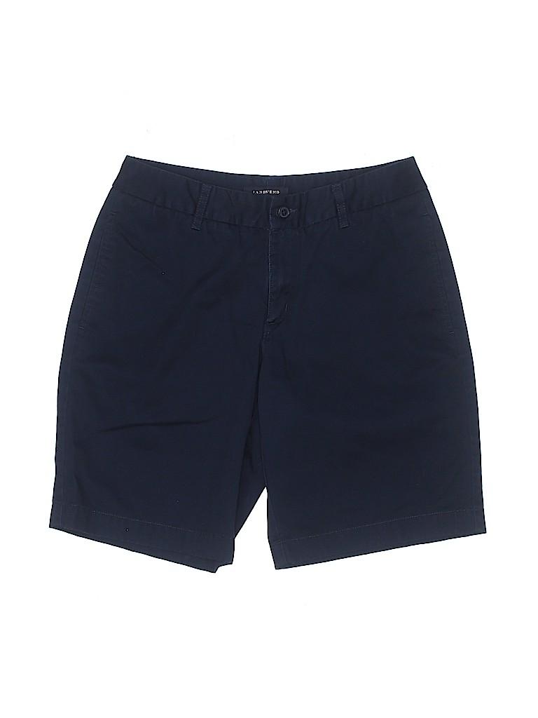 Lands' End Women Khaki Shorts Size 3