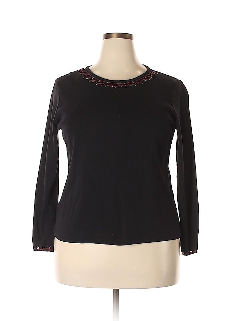 Susan Bristol Women Long Sleeve Top Size 1X (Plus)