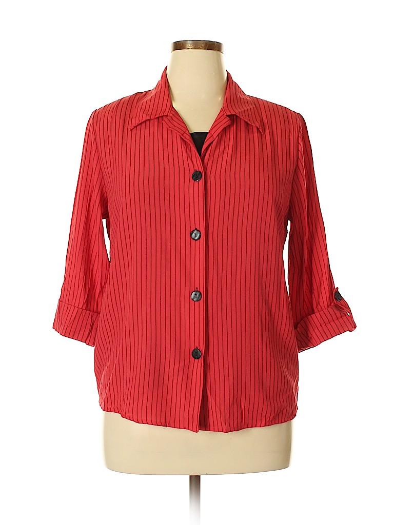 Gloria Lance Women 3/4 Sleeve Blouse Size 1X (Plus)