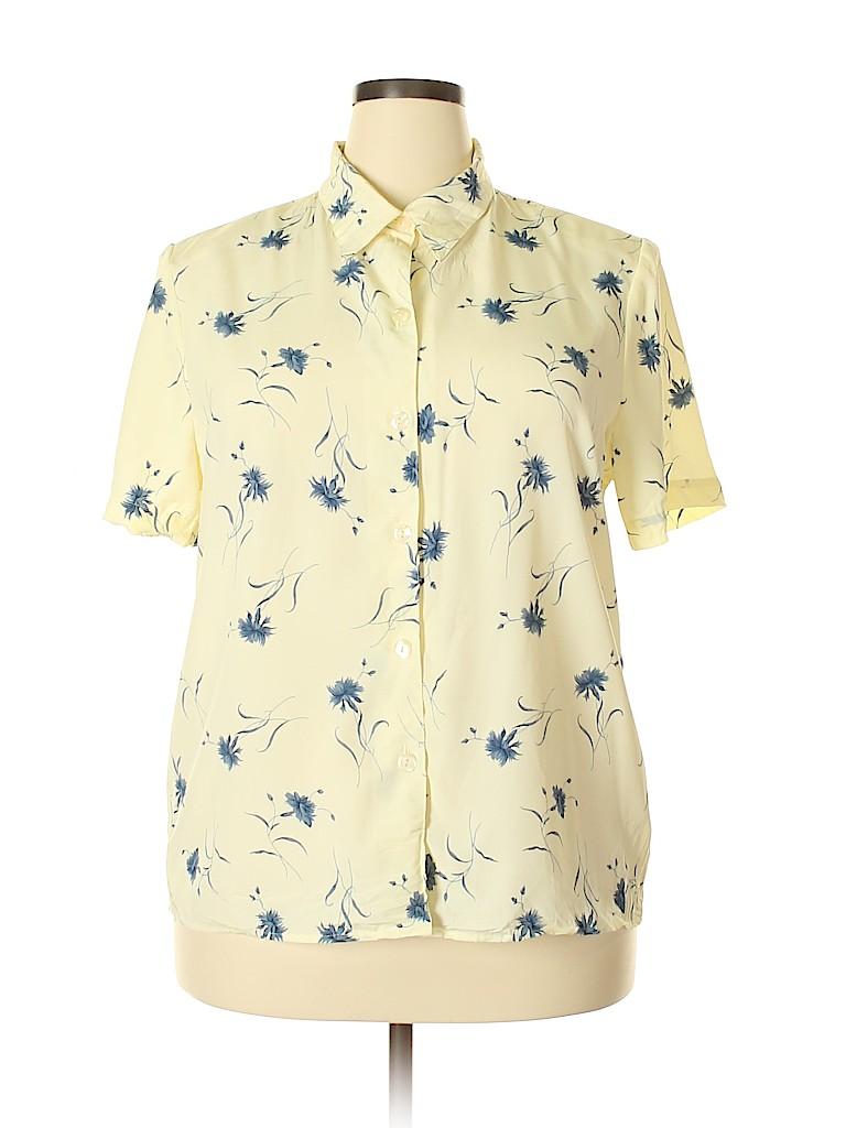 Sag Harbor Women Short Sleeve Blouse Size M