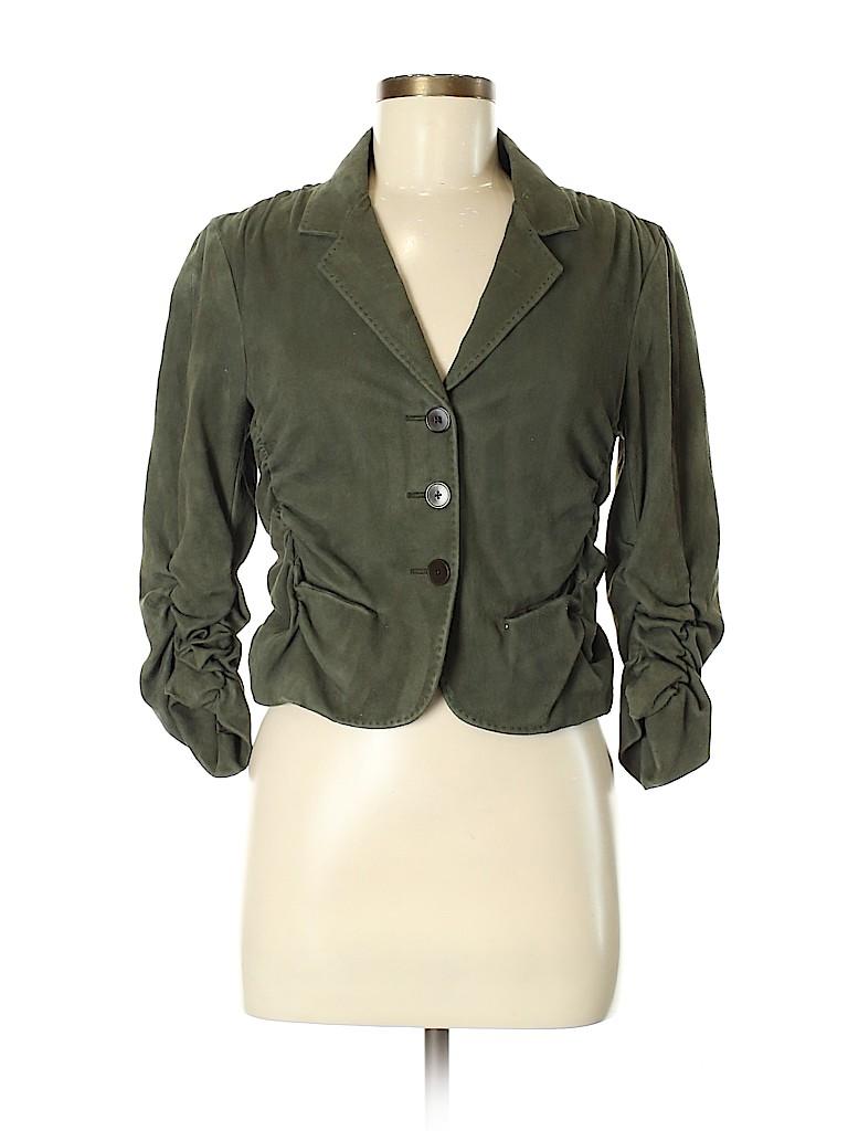 Donna Karan New York Women Leather Jacket Size 6