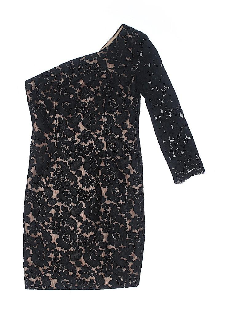 d2b122a7 MARCHESA notte 100% Polyester Lace Black Cocktail Dress Size 0 - 84 ...