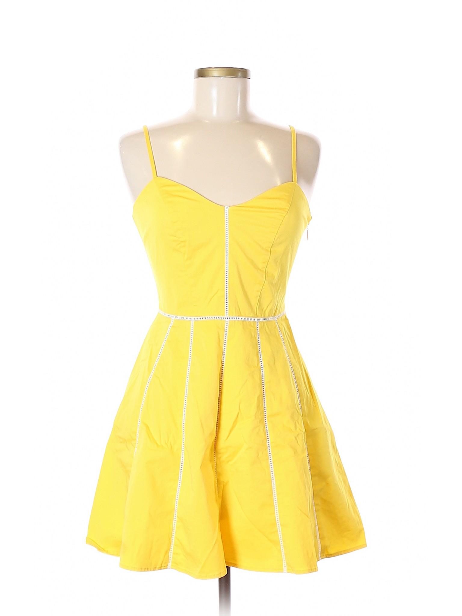 e56fe358 Bebe Women Yellow Casual Dress 6 | eBay