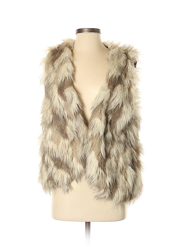 Free People Women Faux Fur Vest Size S