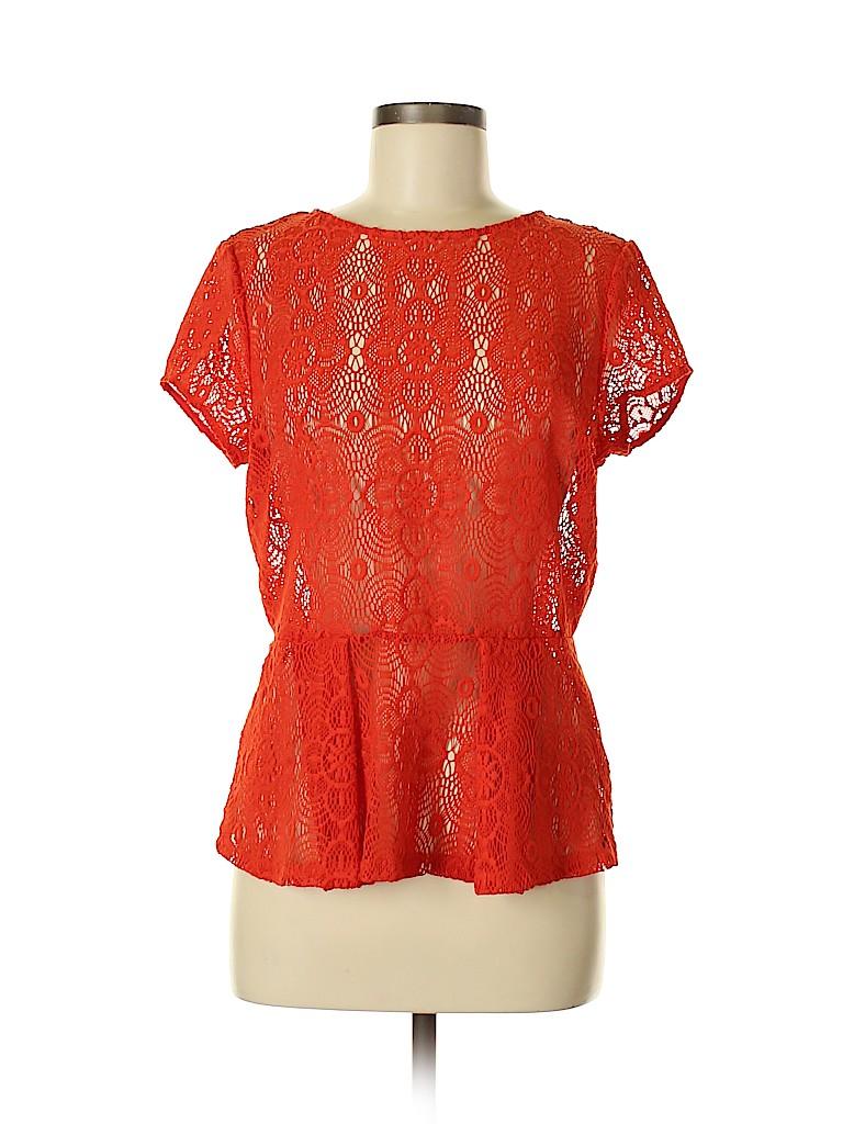Cynthia by Cynthia Rowley Women Short Sleeve Top Size M