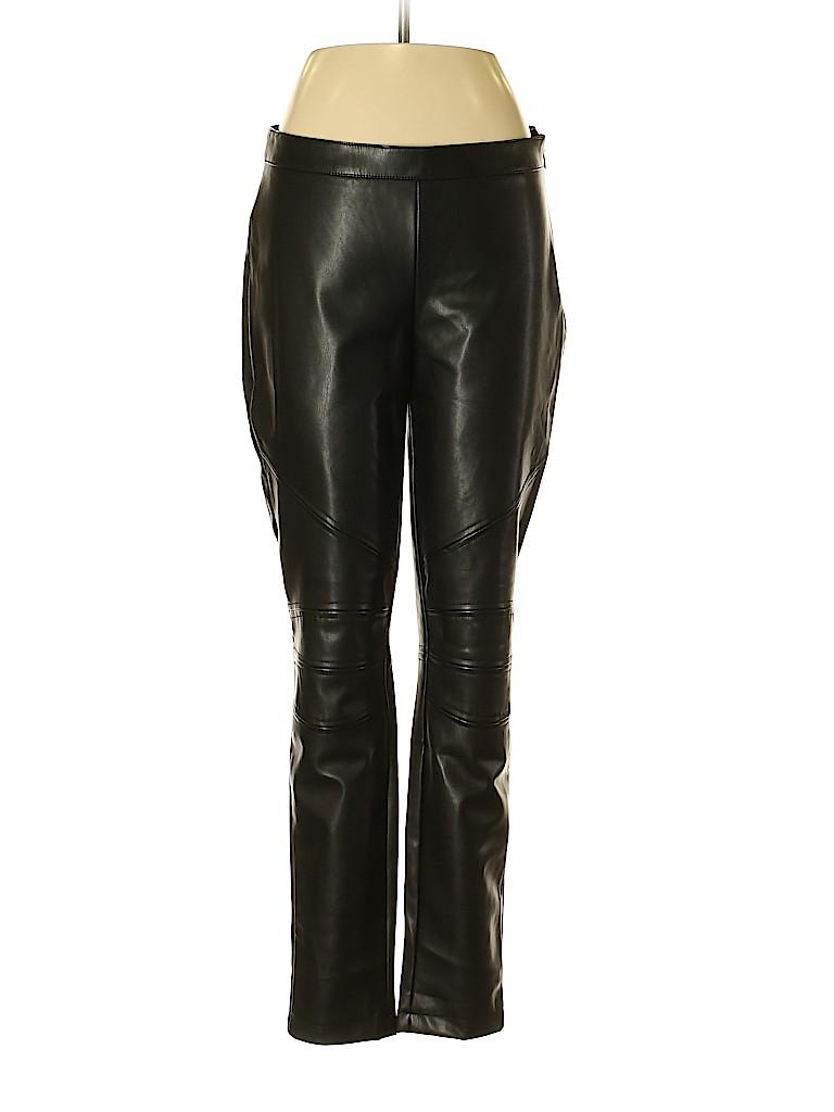 e34cb4faf2f Bebe 100% Polyurethane Solid Black Faux Leather Pants Size 10 - 50 ...