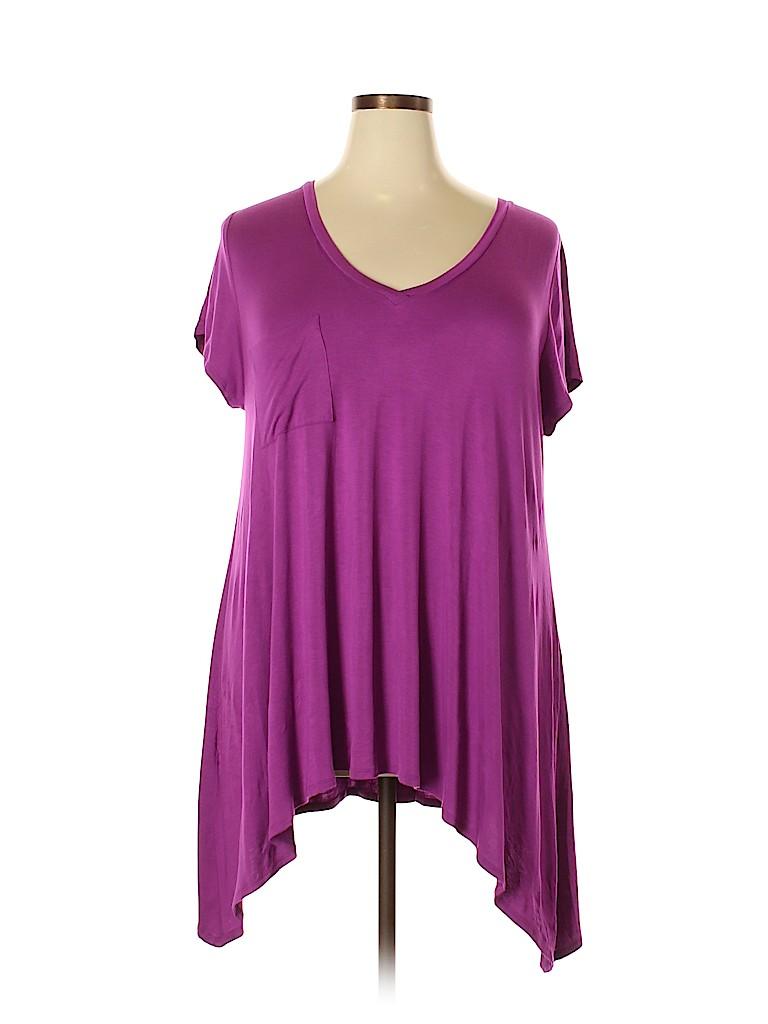 Fervour Women Short Sleeve Top Size 2X (Plus)