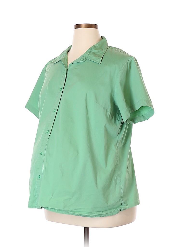 Duo Maternity Women Short Sleeve Button-Down Shirt Size 2X (Maternity)