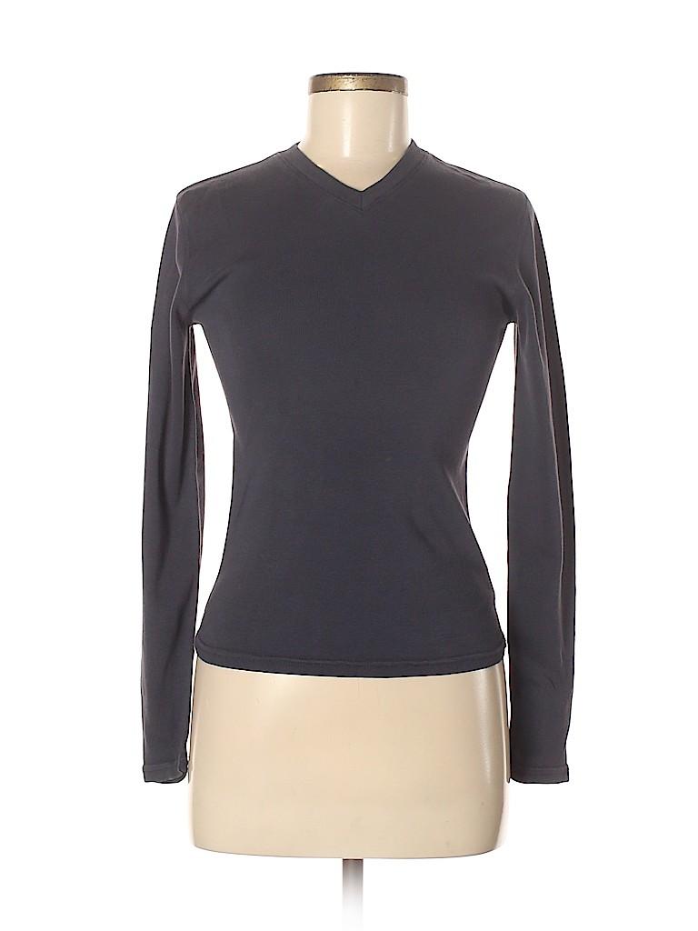 Three Dots Women Long Sleeve T-Shirt Size M