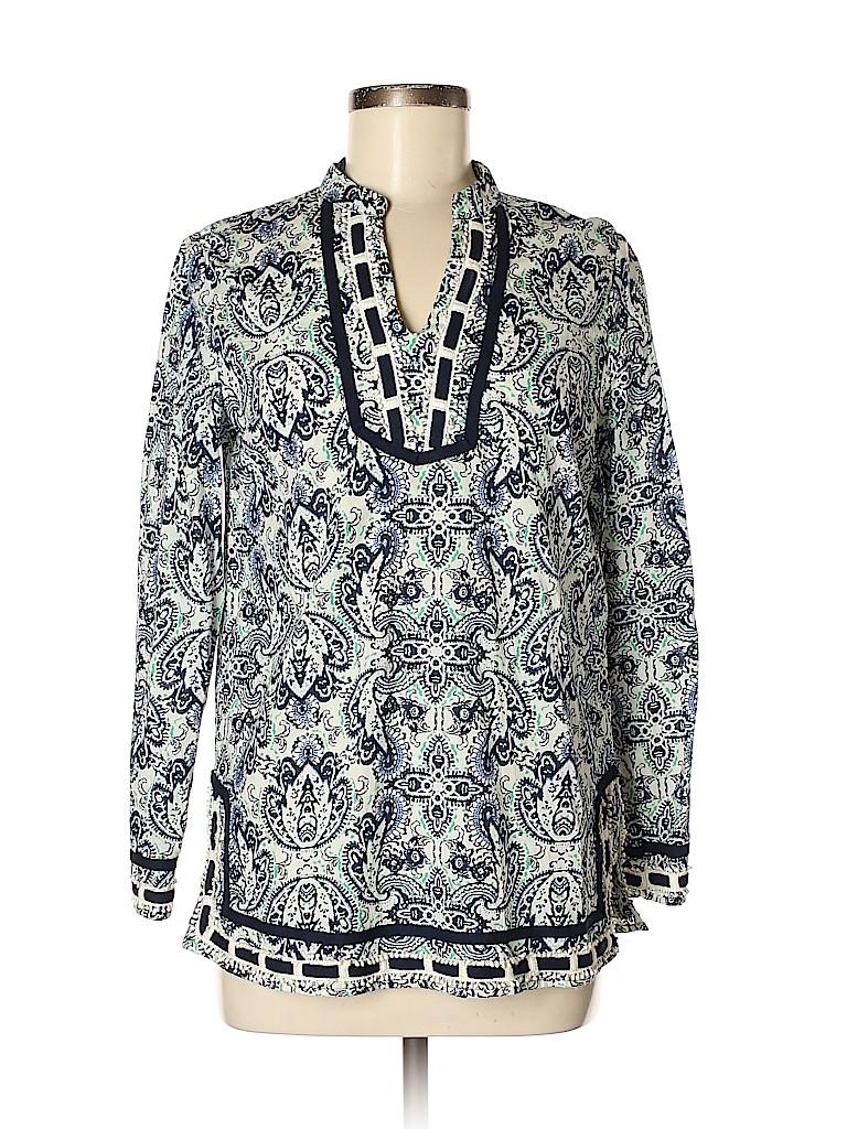 Saint Tropez West Women Long Sleeve Blouse Size S
