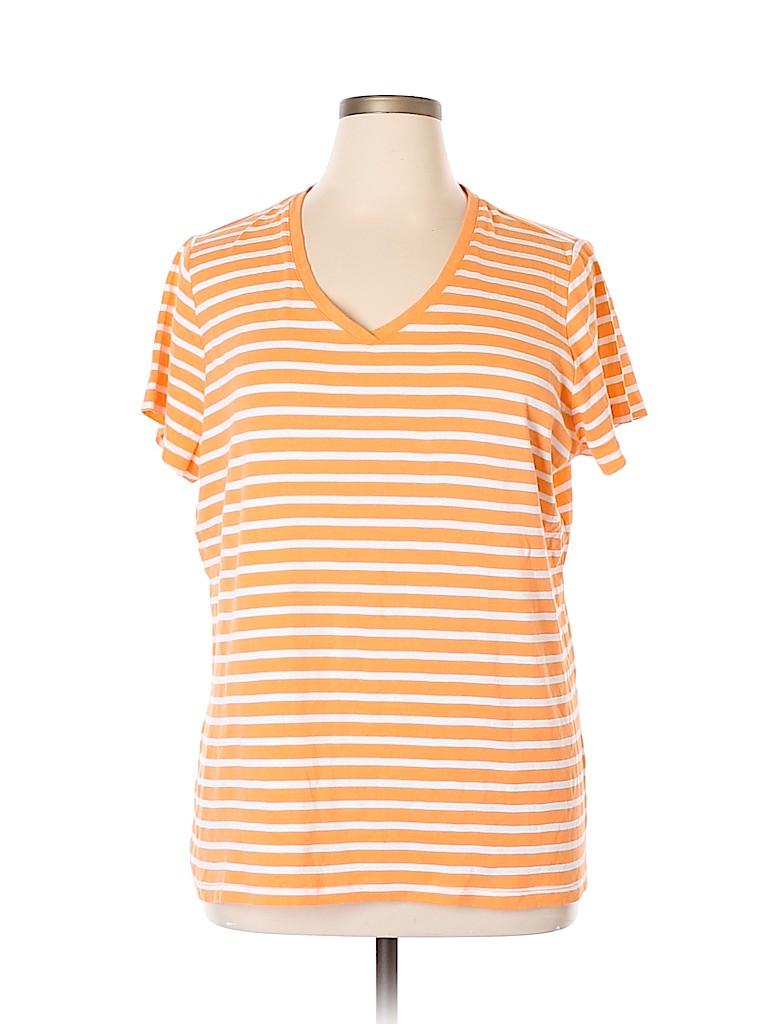 St. John's Bay Women Short Sleeve T-Shirt Size 2X (Plus)