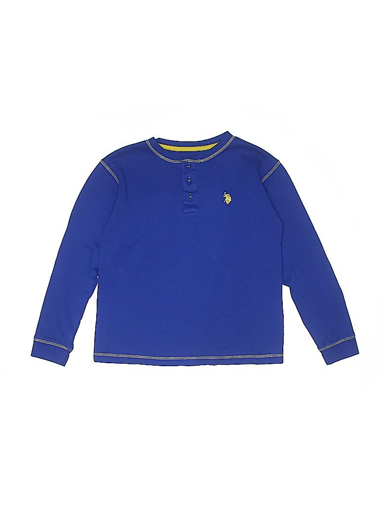 U.S. Polo Assn. Boys Long Sleeve Henley Size 14/16