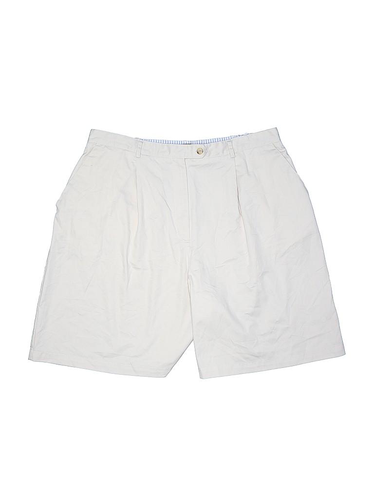 Karen Scott Women Khaki Shorts Size 20 (Plus)