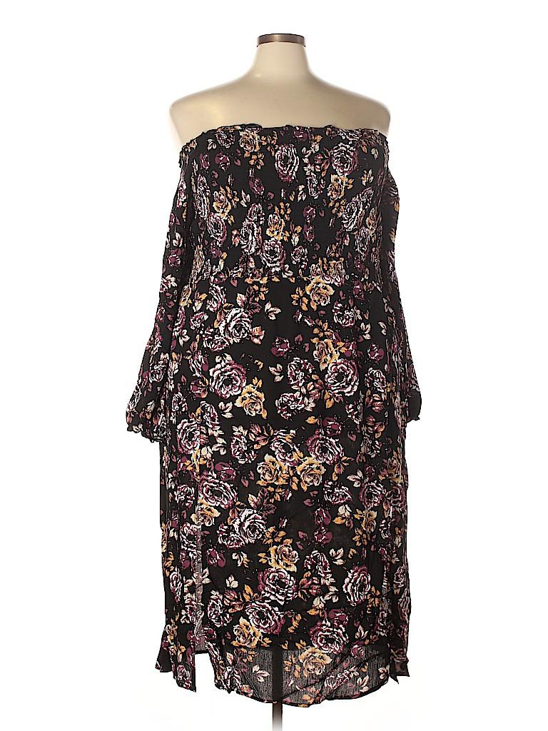 City Chic Women Casual Dress Size 18 Plus (M) (Plus)