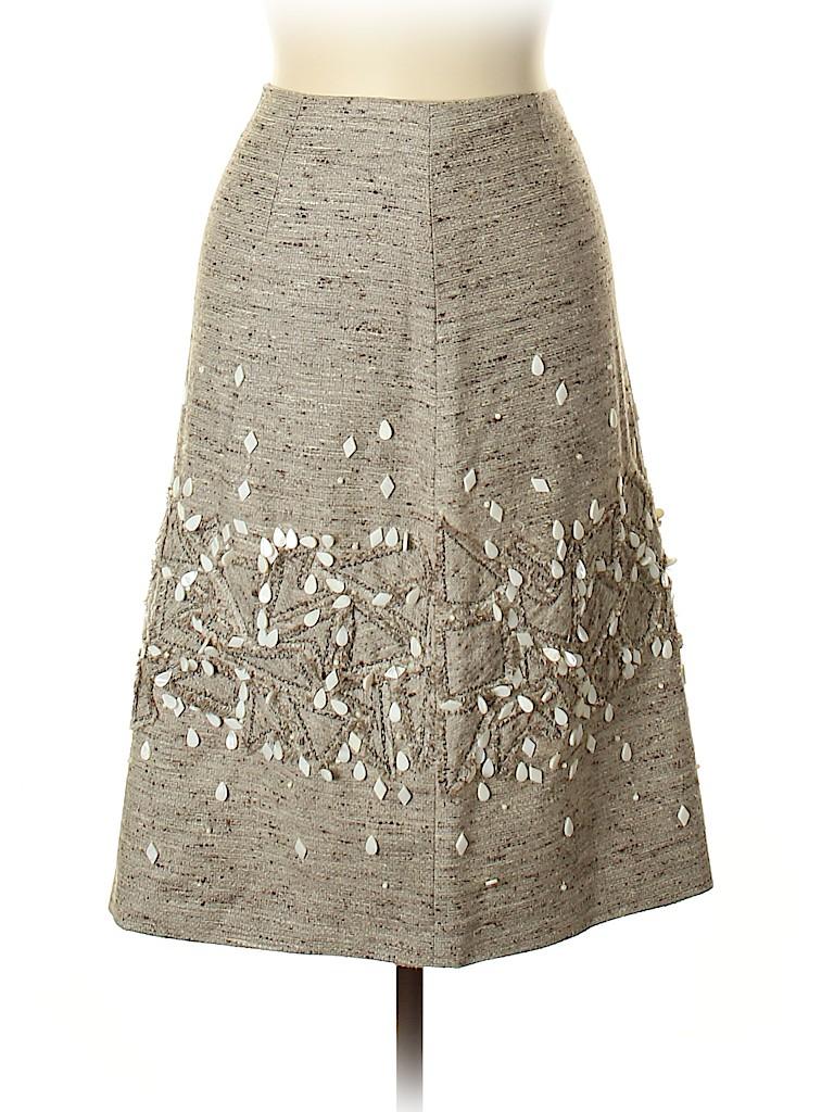 Carolina Herrera Women Silk Skirt Size 6