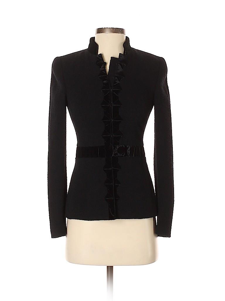 RENA LANGE Women Wool Blazer Size 4