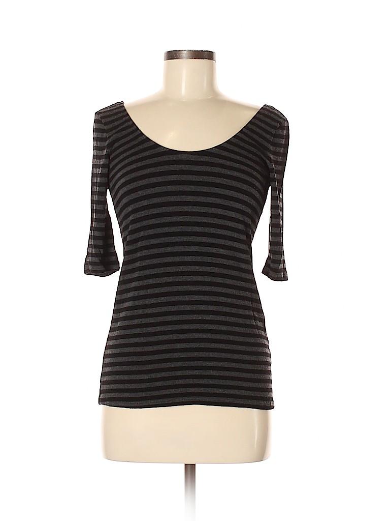 Three Dots Women 3/4 Sleeve T-Shirt Size M