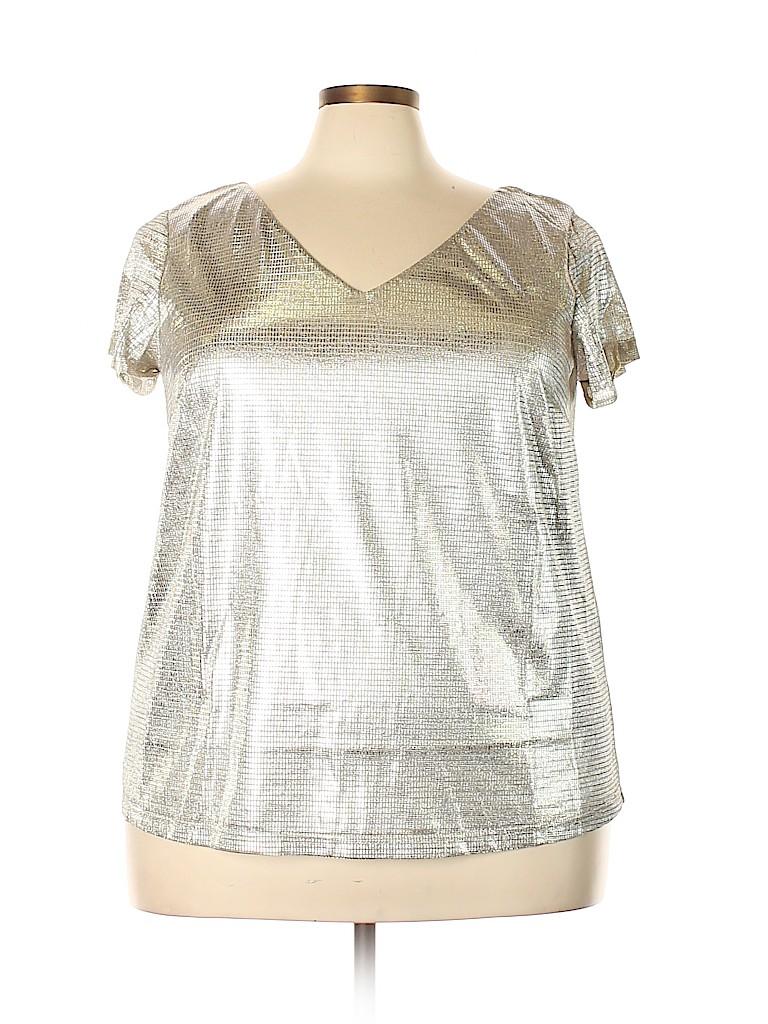 City Chic Women Short Sleeve Top Size 18 Plus (M) (Plus)