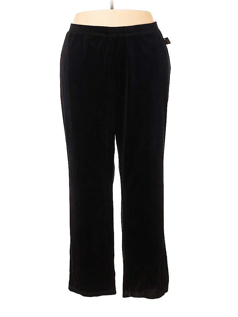 Catherines Women Velour Pants Size 3X (Plus)