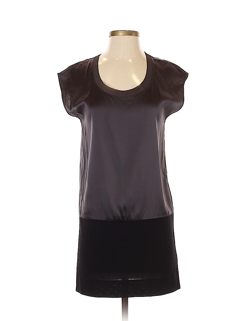 Theory Women Short Sleeve Silk Top Size 4