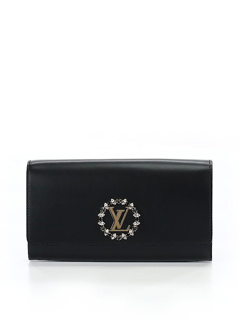 44e25e038d23 Louis Vuitton 100% Leather Solid Black Leather Clutch One Size - 23 ...