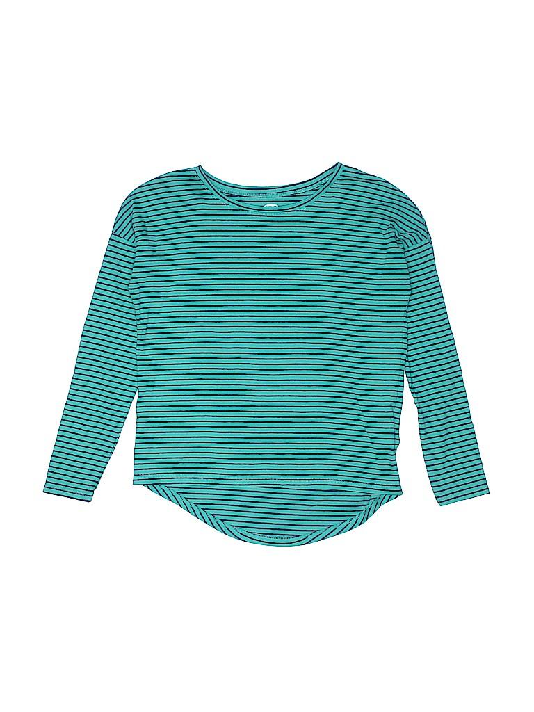 883b132848f3 Old Navy Stripes Light Blue Long Sleeve T-Shirt Size M (Kids) - 73 ...