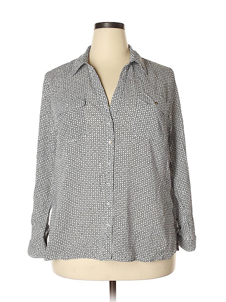 Notations Women 3/4 Sleeve Button-Down Shirt Size 2X (Plus)