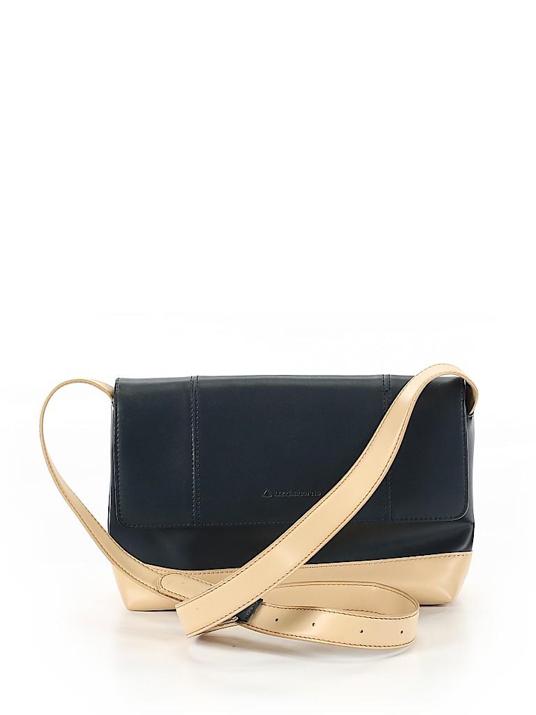 04c2b052aeb1 Liz Claiborne 100% Leather Solid Navy Blue Leather Crossbody Bag One ...