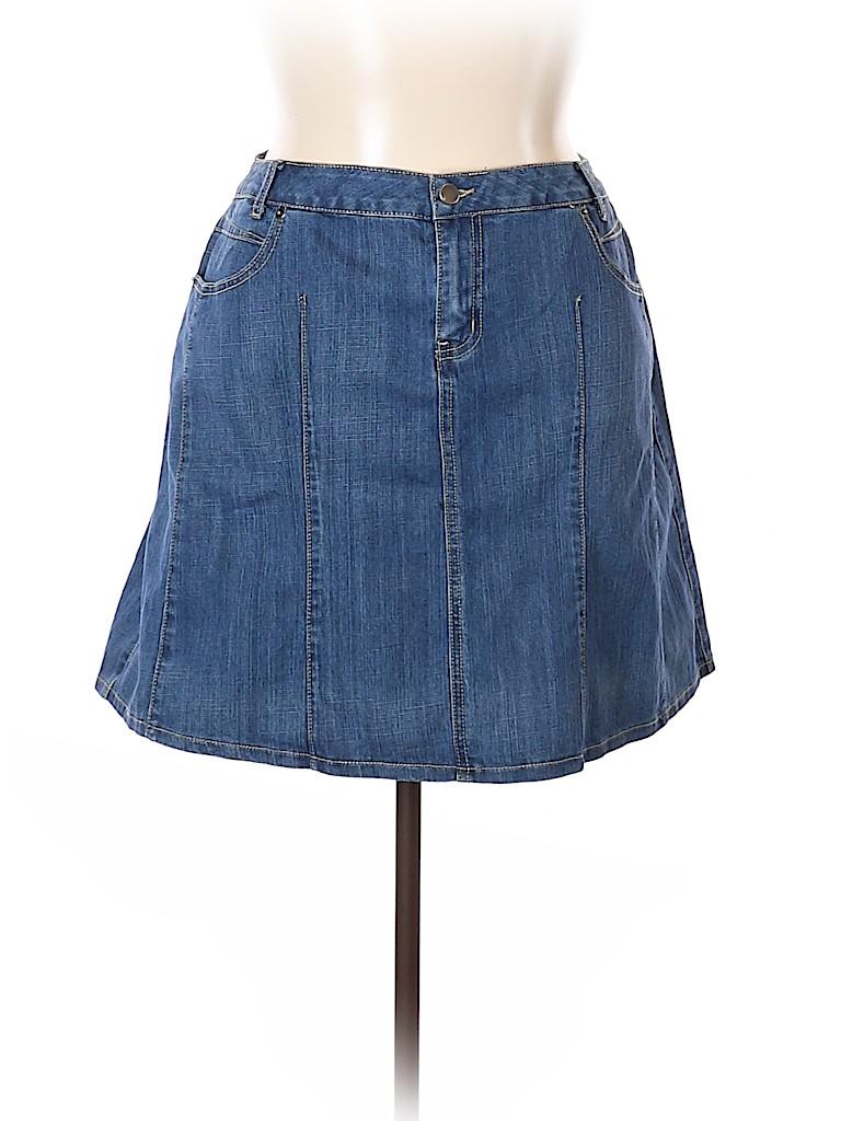 L.A. Blues Women Denim Skirt Size 18 (Plus)