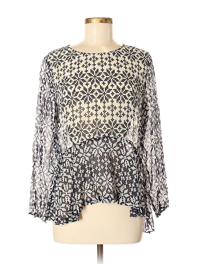 Paul & Joe Women Long Sleeve Blouse Size Med (2)