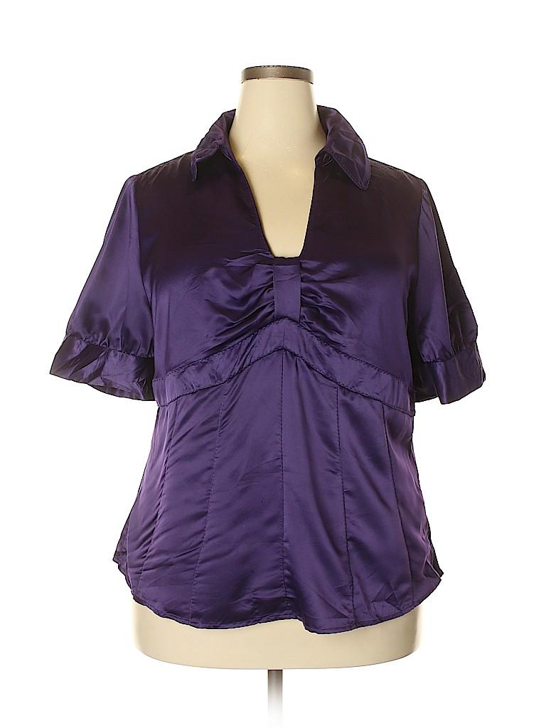 Worthington Women Short Sleeve Blouse Size 20 (Plus)
