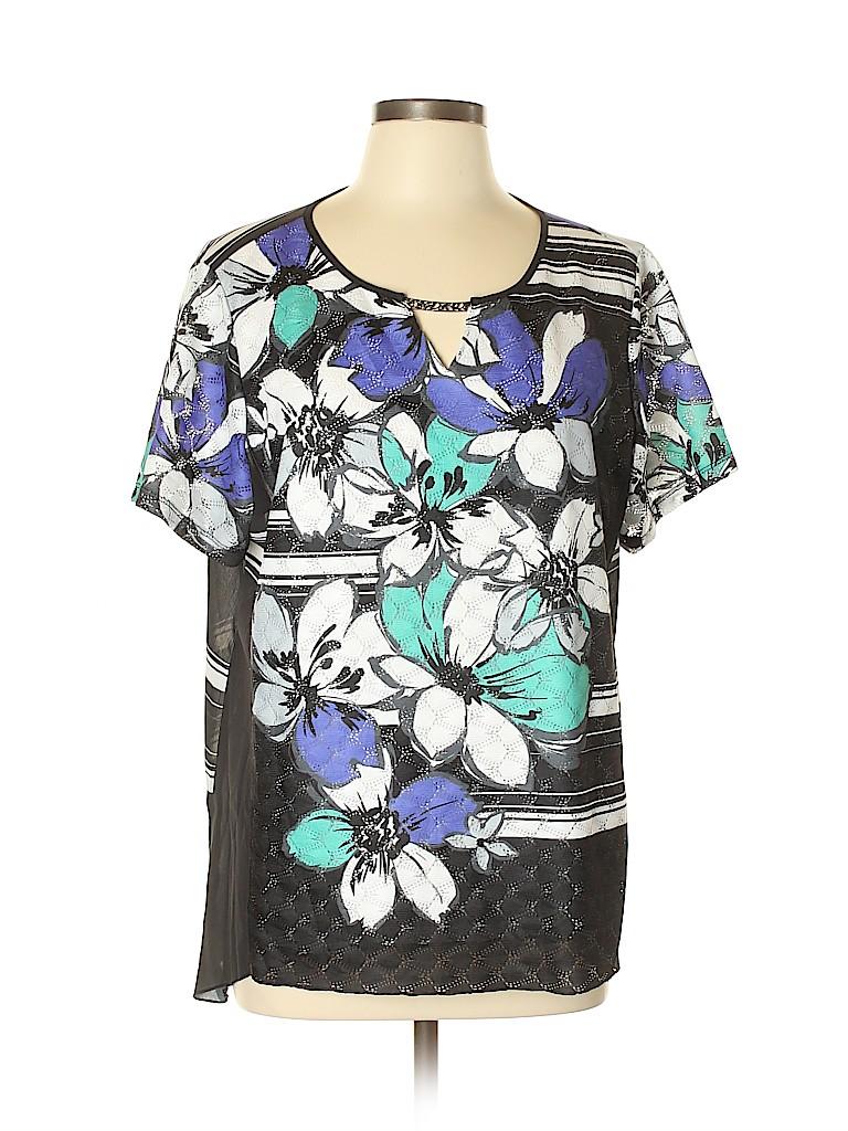 Alfred Dunner Women Short Sleeve Blouse Size XL (Petite)
