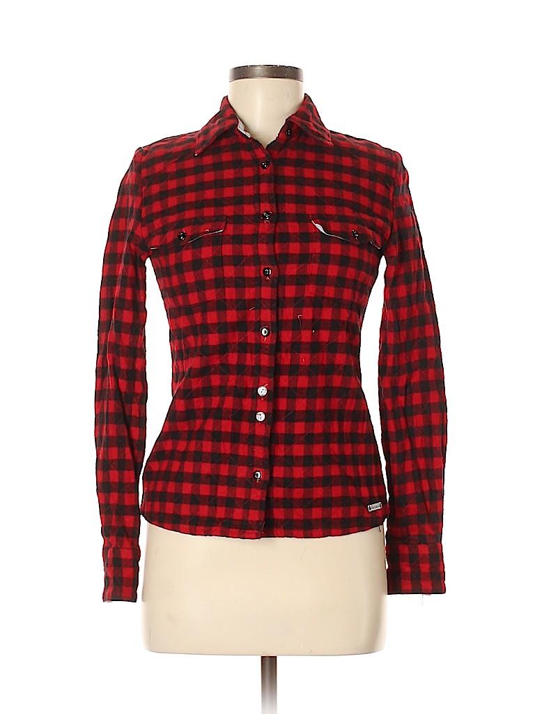 Element Women Long Sleeve Button-Down Shirt Size S