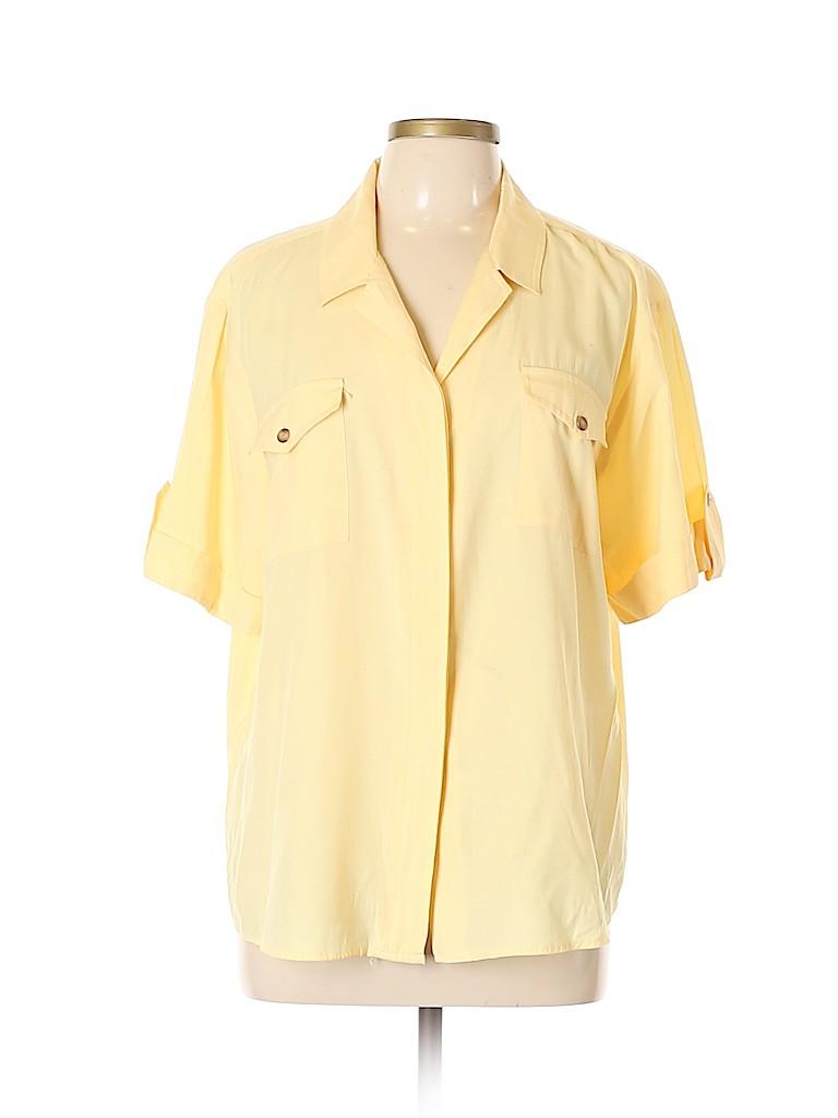 Apparenza Women Short Sleeve Button-Down Shirt Size XL
