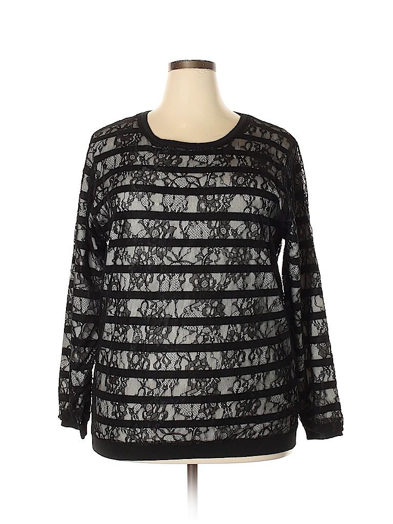 City Chic Women Pullover Sweater Size 18 Plus (M) (Plus)