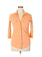 Pure Amici 3/4 Sleeve Button-down Shirt