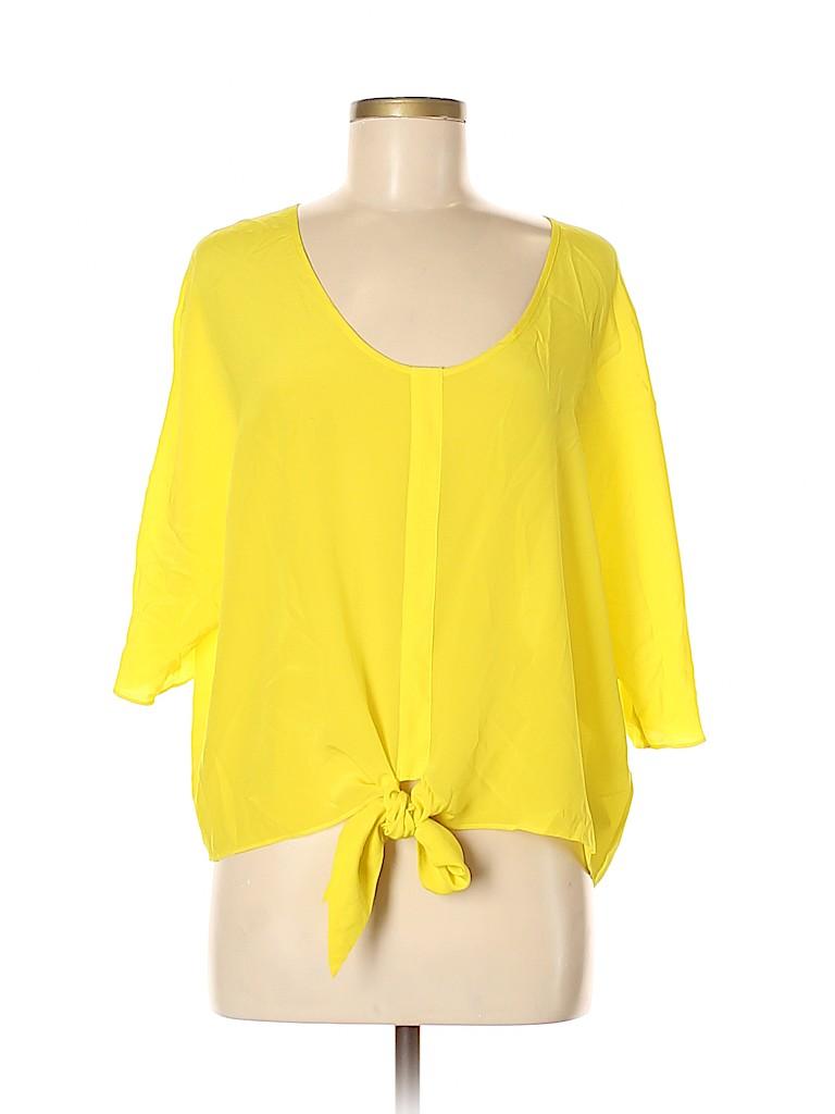 Marciano Women 3/4 Sleeve Silk Top Size M