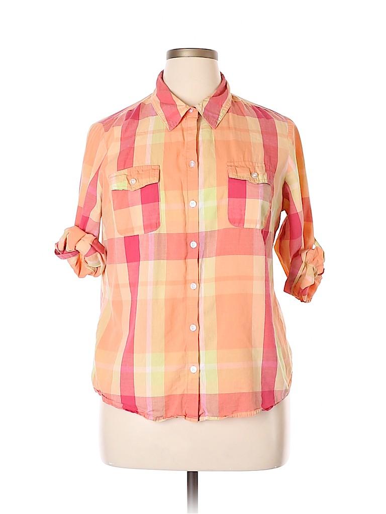 Croft & Barrow Women 3/4 Sleeve Button-Down Shirt Size XL