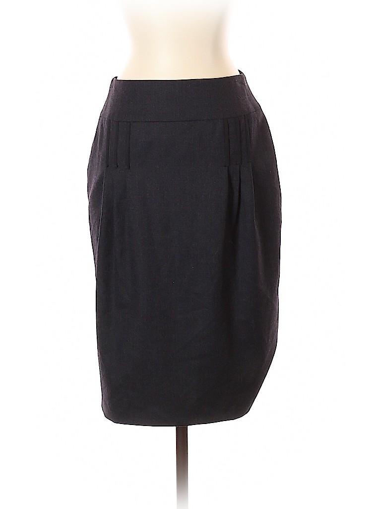 RENA LANGE Women Wool Skirt Size 4