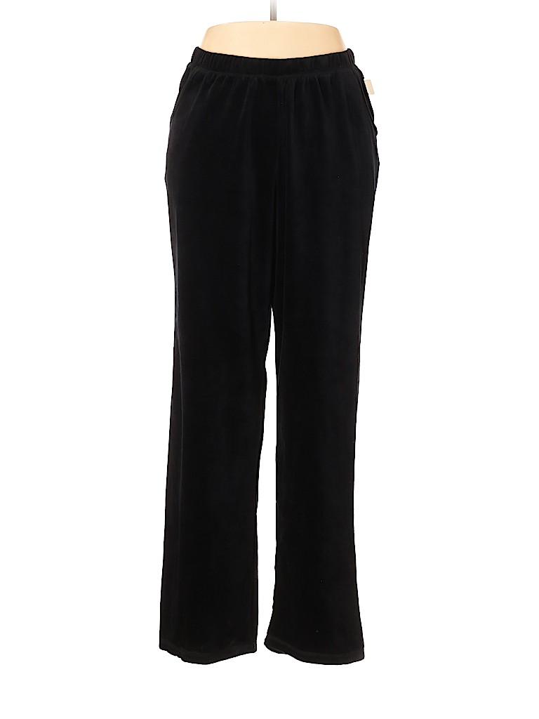 Catherines Women Velour Pants Size 0X (Plus)