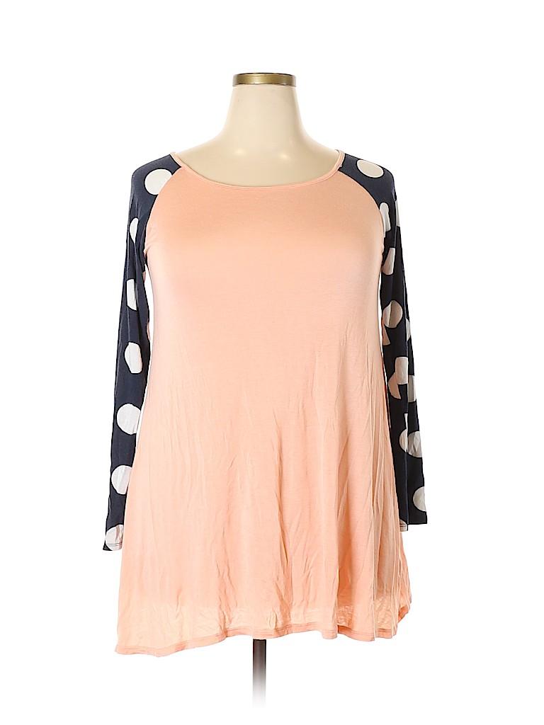 Flamingo Women Long Sleeve Top Size L