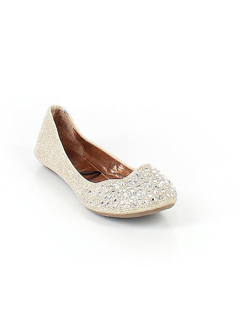 b1f0d94d0 Nicole Solid Silver Flats Size 8 - 65% off | thredUP