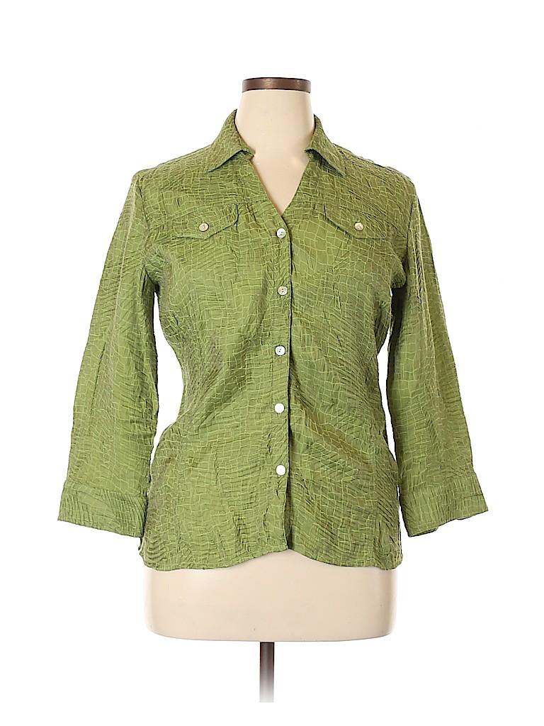 Scott Taylor Women Long Sleeve Button-Down Shirt Size XL