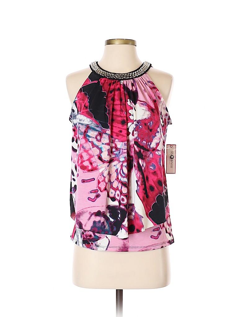 Bisou Bisou Women Sleeveless Top Size S